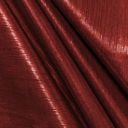 Maille lurex côtelé rouge