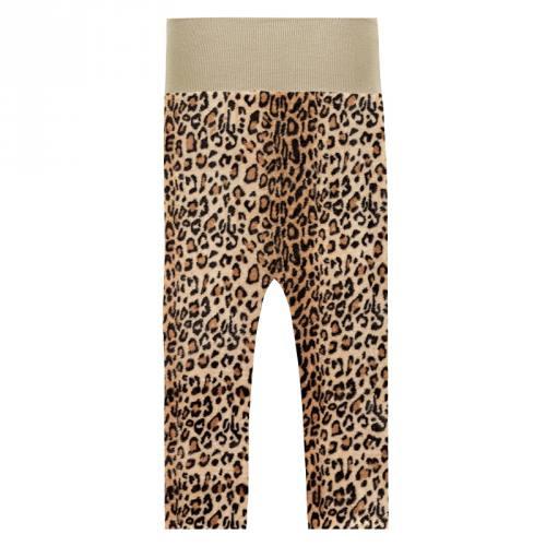 Tissu polaire imprimé léopard