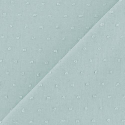Voile de coton plumetis vert d'eau