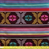 Wax - Tissu africain multicolore géométrique 77