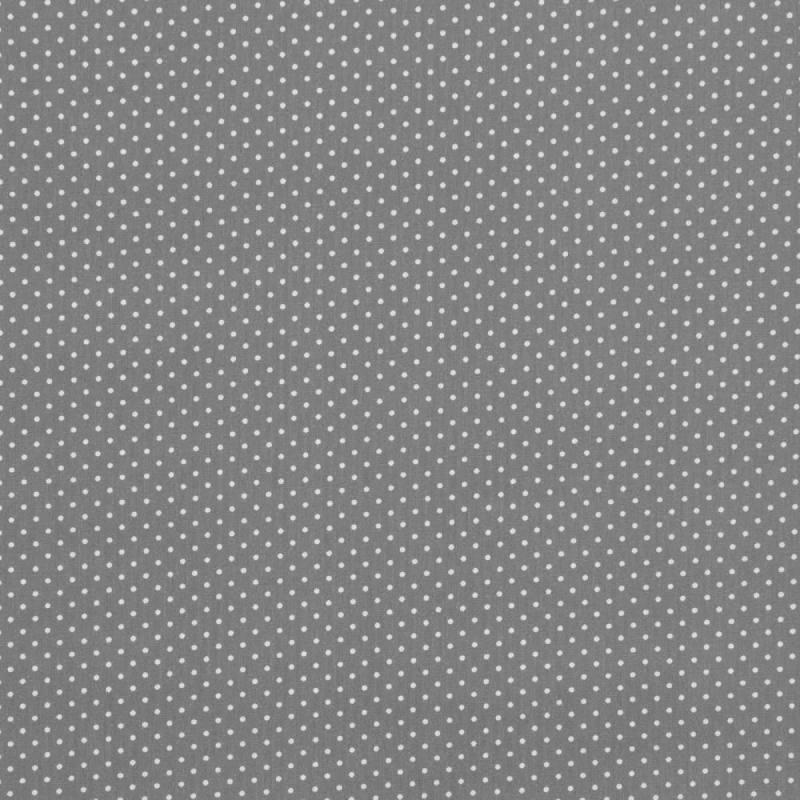 Coton gris souris à petit pois 1mm