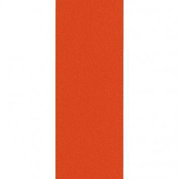 Ruban satin double face orange 50 mm