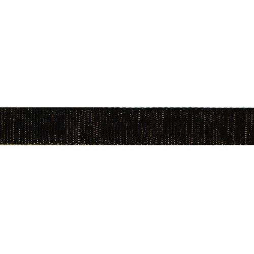 Sangle noire pailletée or 30 mm