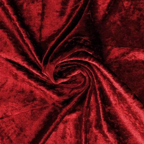 Panne de velours rouge carmin