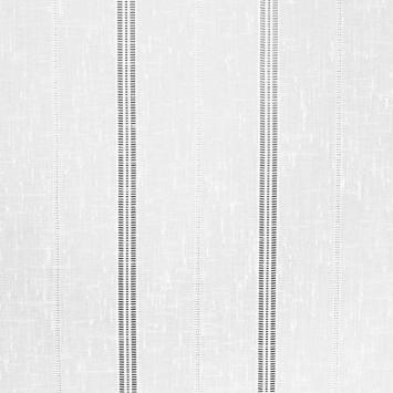 Voilage blanc tissé 45cm