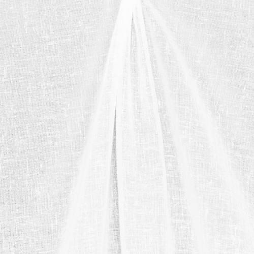 Voilage blanc aspect lin