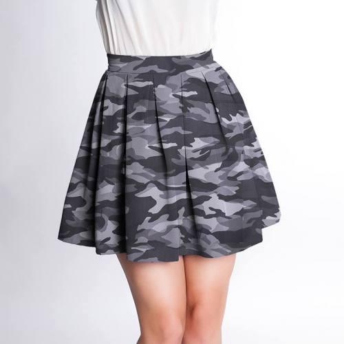 Simili cuir imprimé camouflage gris de lin