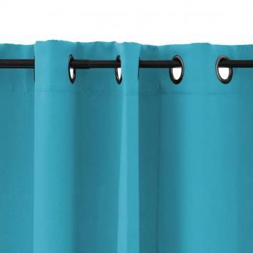 Rideau à oeillets obscurcissant bleu turquoise 135x250 cm