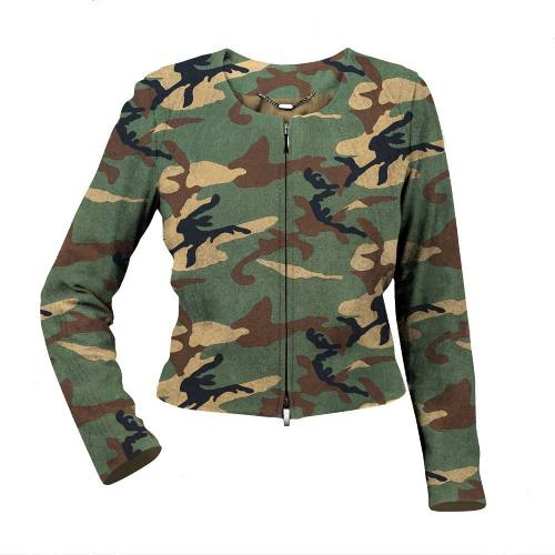Gabardine coton imprimé camouflage