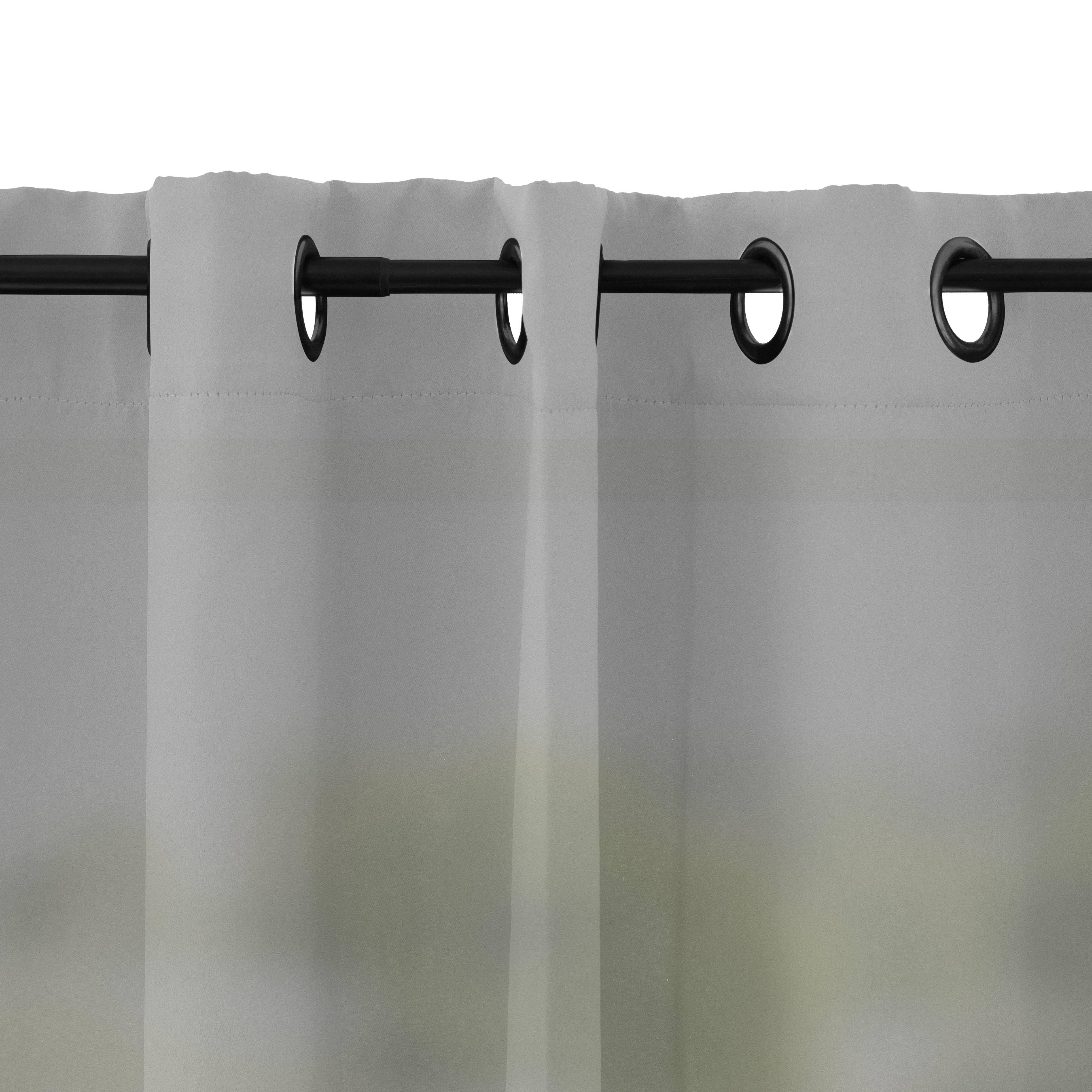 Rideau à oeillets microfibre gris perle 135x250 cm