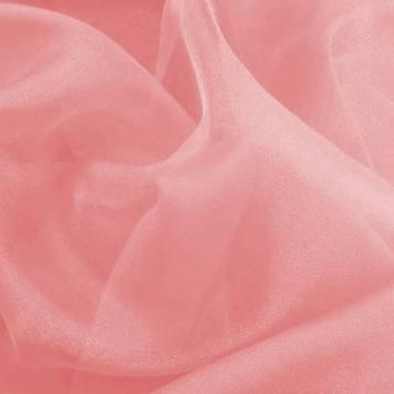 Organza bicolore rose thé et blanc