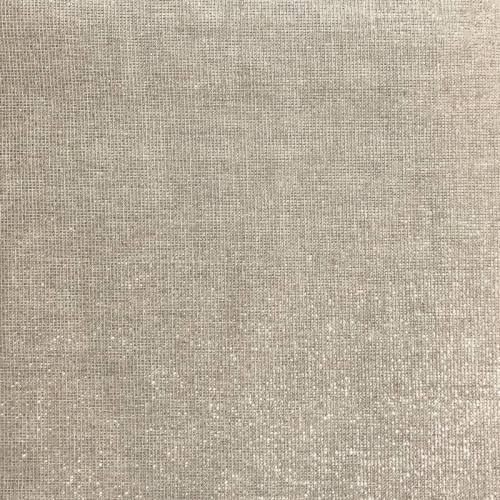 Toile aspect lin lurex argenté grande largeur
