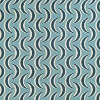 Toile polycoton imprimée lune bleu