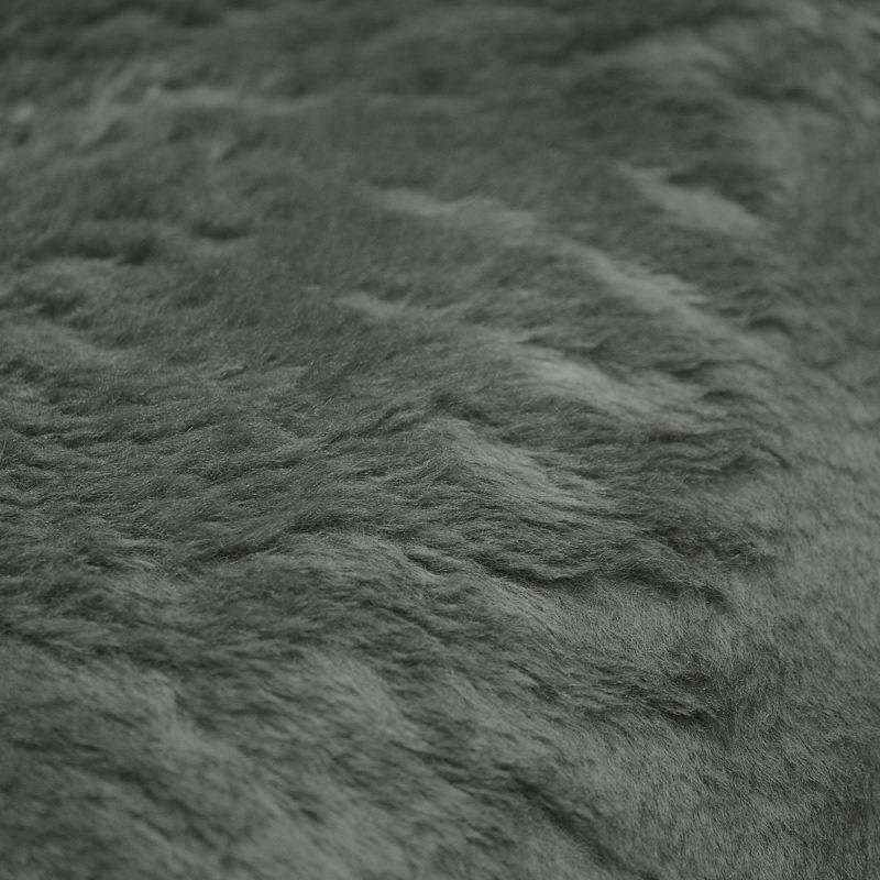 Fausse fourrure uni vert de gris