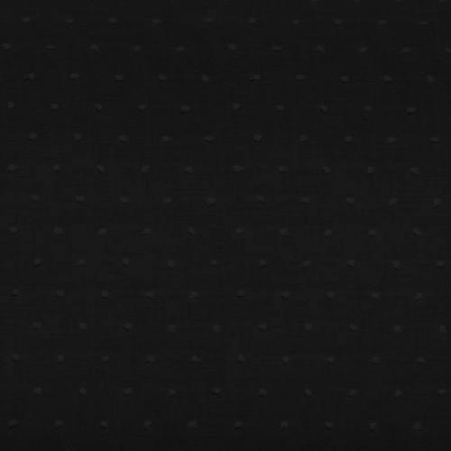 Voile de coton plumetis noir pois noir