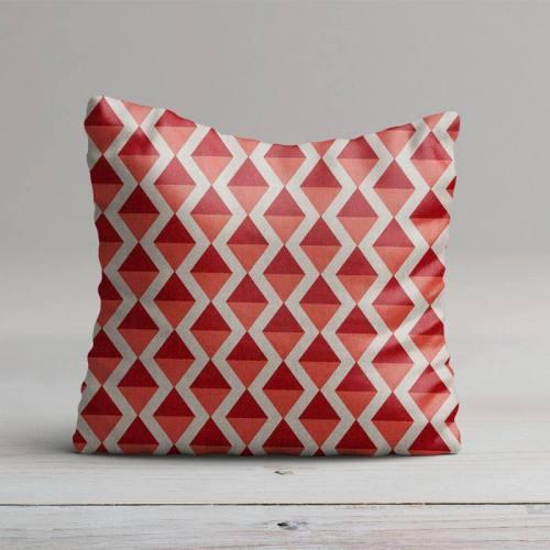 Toile polycoton imprimé losange rouge