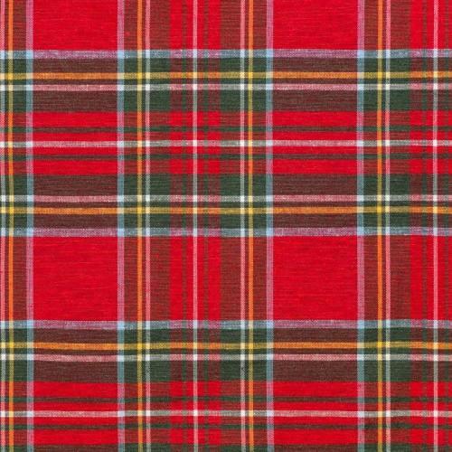 Tissu tartan rouge et vert gros carreaux