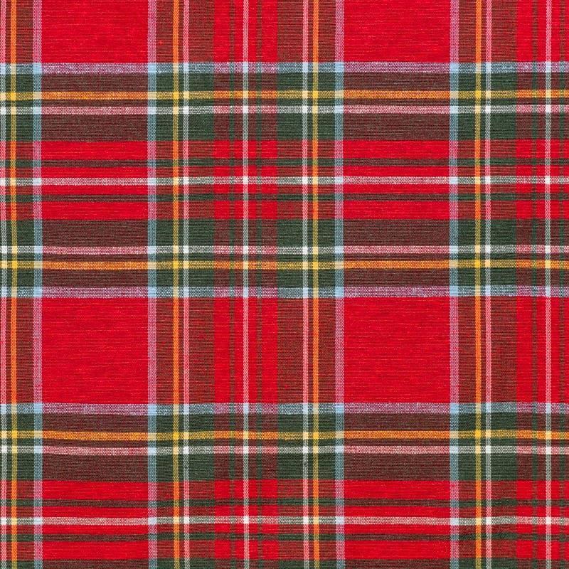 Tissu tartan rouge et vert gros carreaux pas cher tissus - Tissus rouge pas cher ...