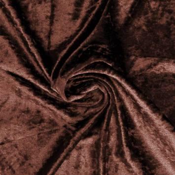 Panne de velours marron