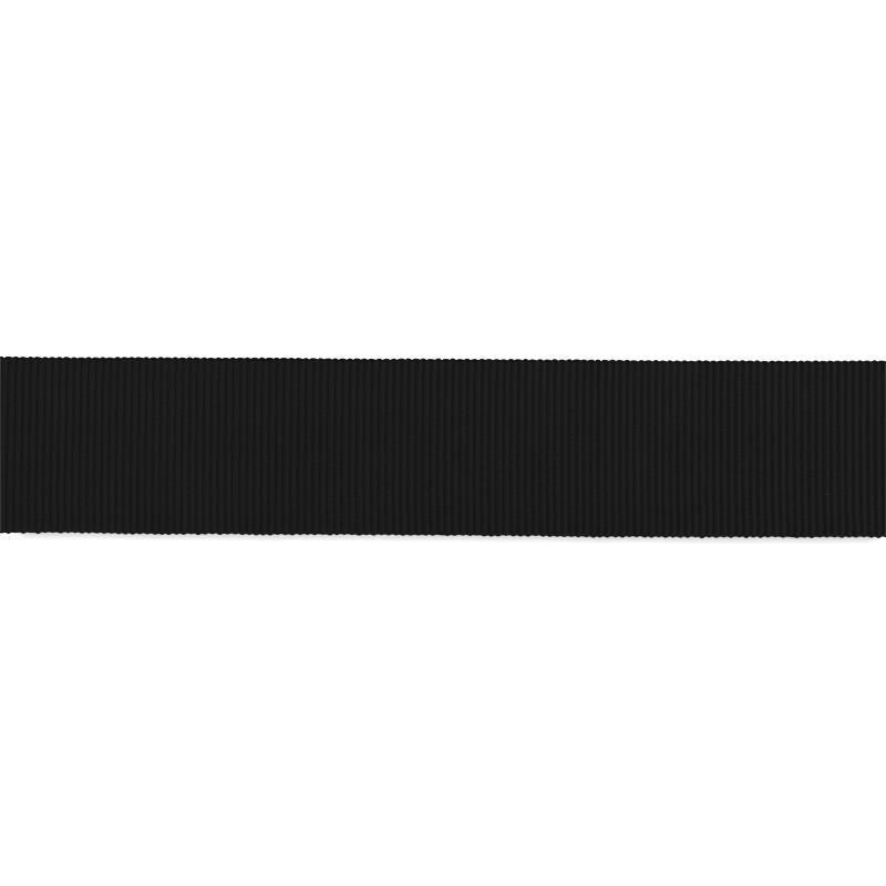 Ruban gros grain 25mm noir