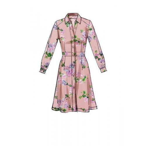 Patron McCall's M7623 : Robes pour jeune femme 42-50
