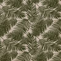 Toile polycoton imprimé jungle vert