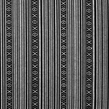 Tissu mexicain noir et blanc
