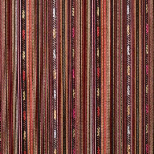 Tissu mexicain rayé rouge