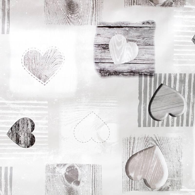 toile cir e motif coeurs pas cher tissus price. Black Bedroom Furniture Sets. Home Design Ideas