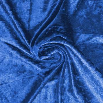 Panne de velours bleu roi