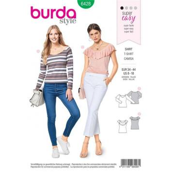 dd9a79e159c ... Patron Burda 6428   T-shirt Taille 34-44