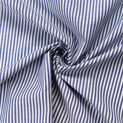 Tissu rayé bleu et blanc