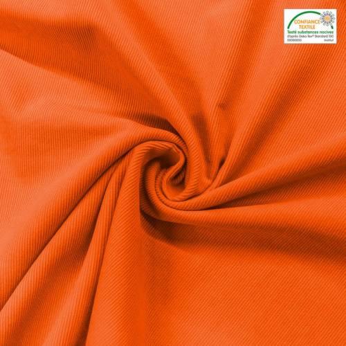 Velours cotelé fin orange