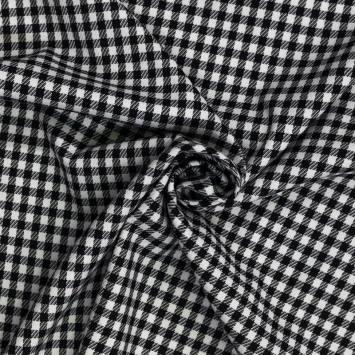 Tissu moyen carreaux noirs et blancs
