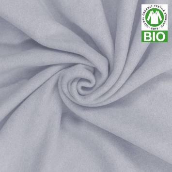 Polaire bio bleu pastel 100% coton